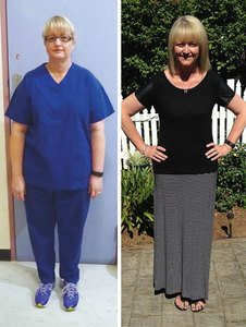 Louise's before and after