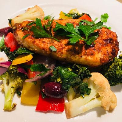 Spanish chicken on plate